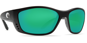 Очки Costa (Fisch GF 580 P (Matte Black GF/Green Mirror, XL))